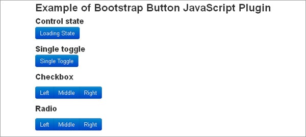 Bootstrap plugins: Twitter Bootstrap Button JavaScript Plugin