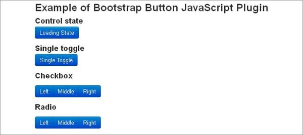 Bootstrap plugins: Twitter Bootstrap Button JavaScript Plugin