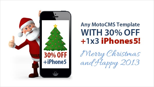 iPhone 5 giveaway from MotoCMS