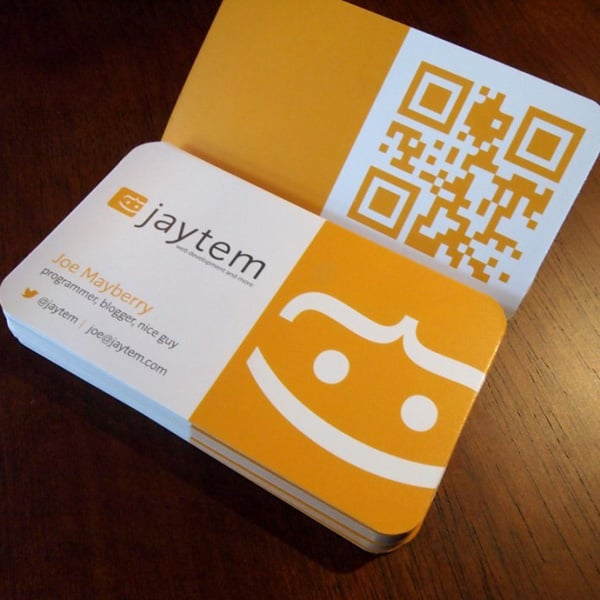 Stunning qr code designs from 2012 for Create qr code business card