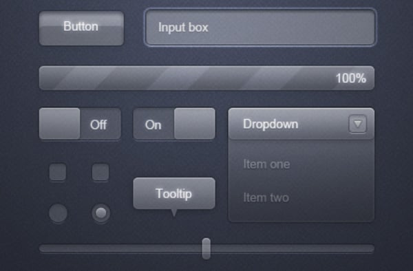 Download free UI design tools PSD