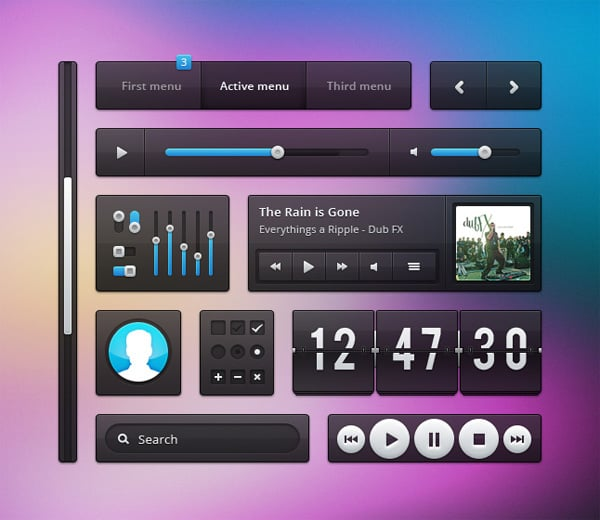 Download free UI kit PSD