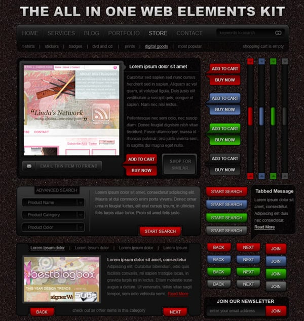 Download Free Web UI Kit