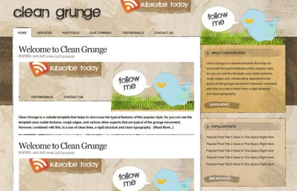 Making the 'Clean Grunge' Blog Design