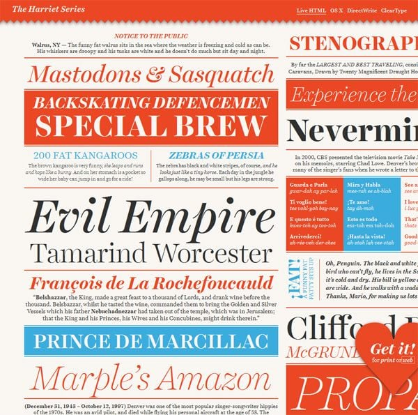 Web design with typography