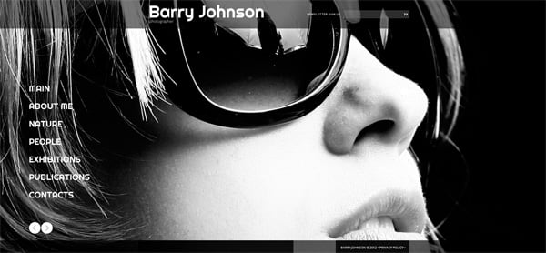 Template for Personal Website in Black and White Style