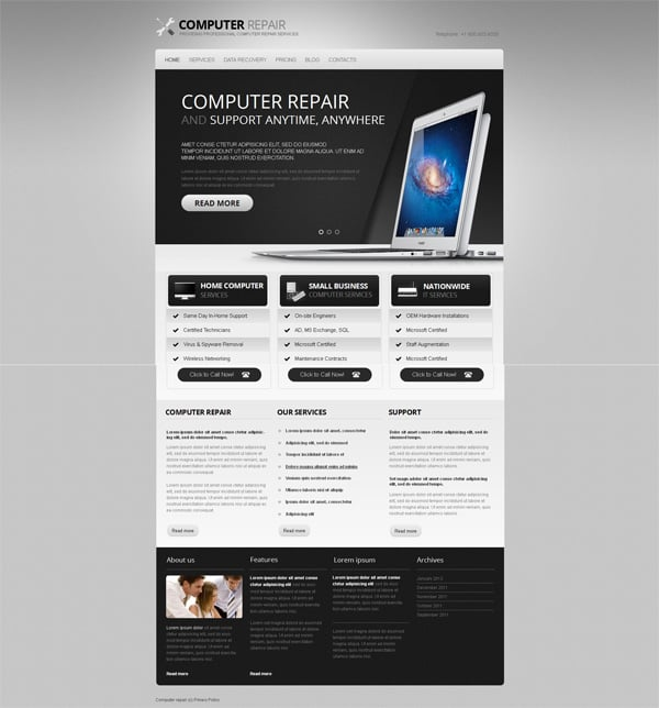 Black and white website templates why are they so cool template for personal website in black and white style accmission Image collections