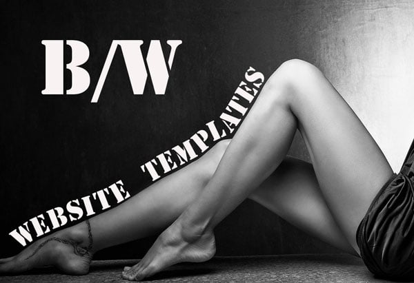 Black and White Website Templates