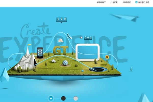 25 Inspirational Blue Web Designs