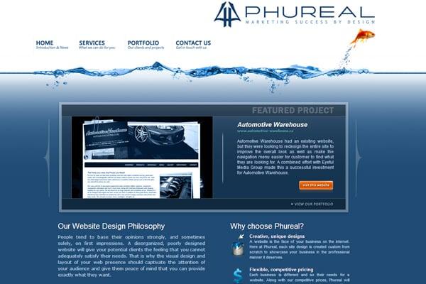 25 Inspirational Blue Website Designs