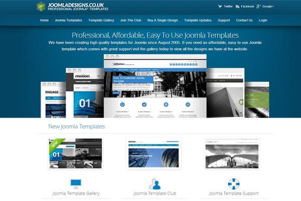 25 Inspirational Blue Website