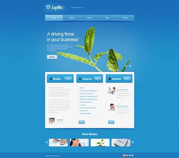 Blue Website Template