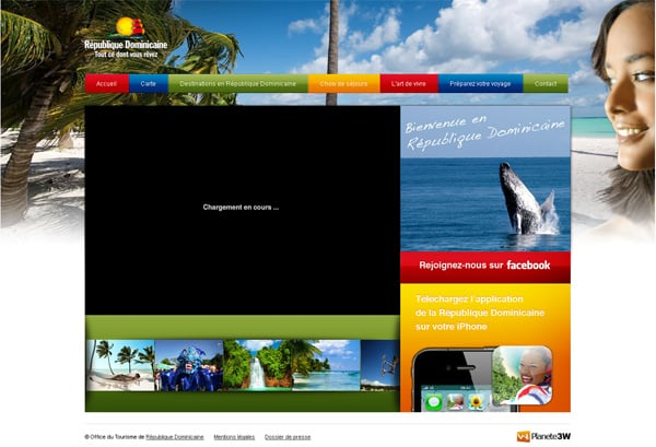 Travel website designs - RepublicaDominicana