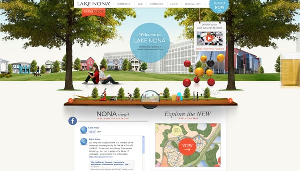Travel website designs - Lake Nona