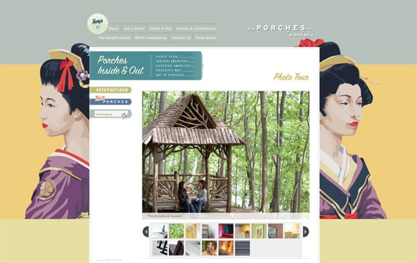 Travel website designs - Porches