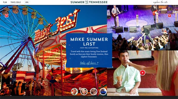Travel website designs - Summer Tennessee