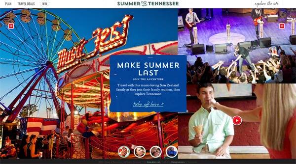 Travel website designs - Summer Tennessee