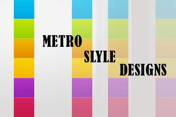 Metro Style Website Templates - The Secret Side of the Latest Design Trend