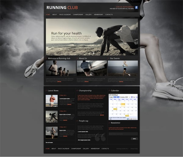 Dark Website Template for Halloween with free 30 days trial