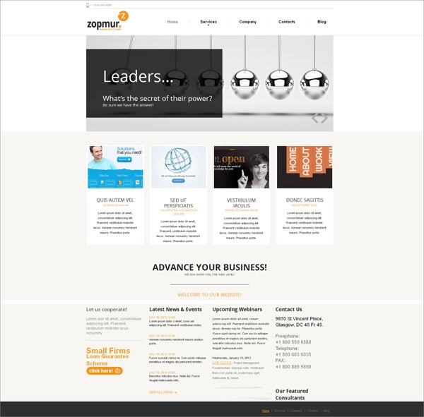 Clean Website Template for Commercial Organizations