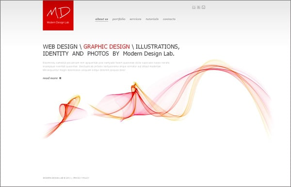 Clean Website Design for Design Studios