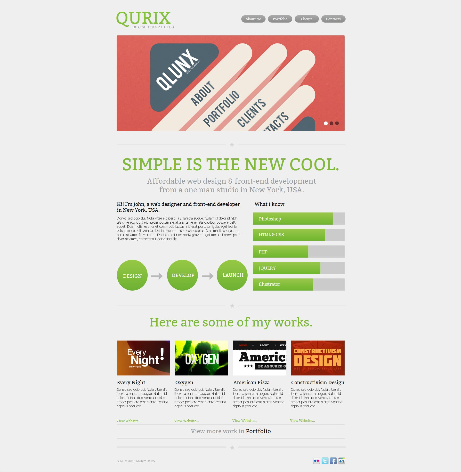 Clean Website Template with well-optimized content sections