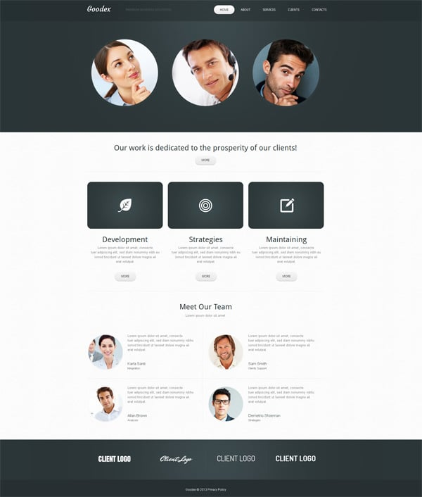 Clean Website Template for business companies