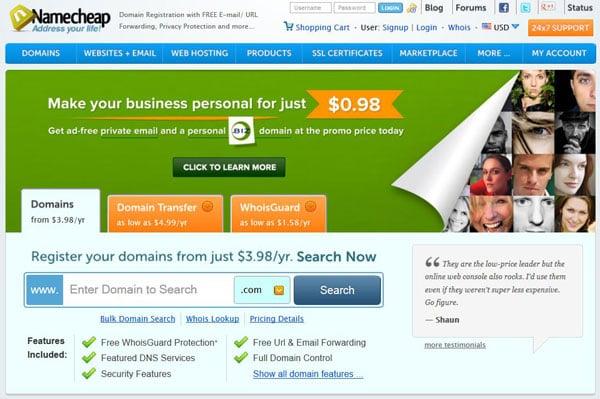 Win Free Domain Names from Namecheap - Giveaway