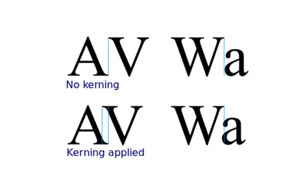 Kerning in Text. Typography Mistake to Avoid