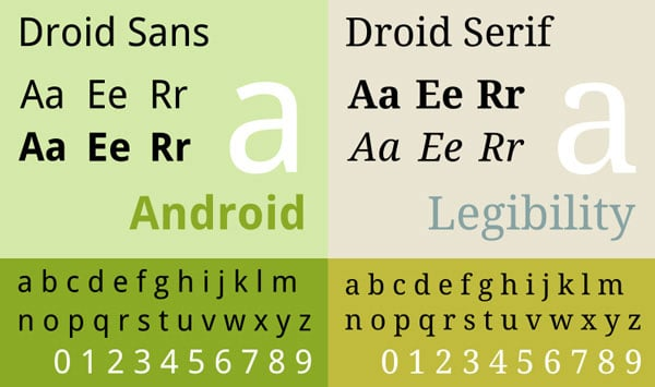 Droid sans and Droid serif - Google Fonts