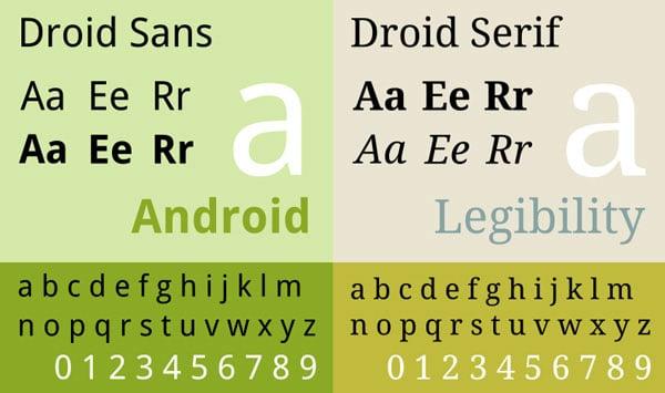 Droid sans and Droid serif - Google Fonts