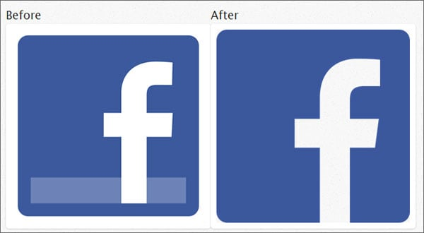 Flat Web Design Tutorials - New Facebook Logo in Flat