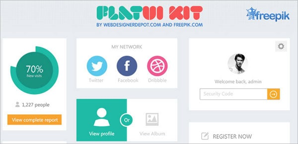 Free Flat UI Kit