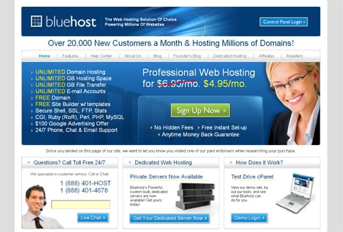 How to Create Website - BlueHost Hosting