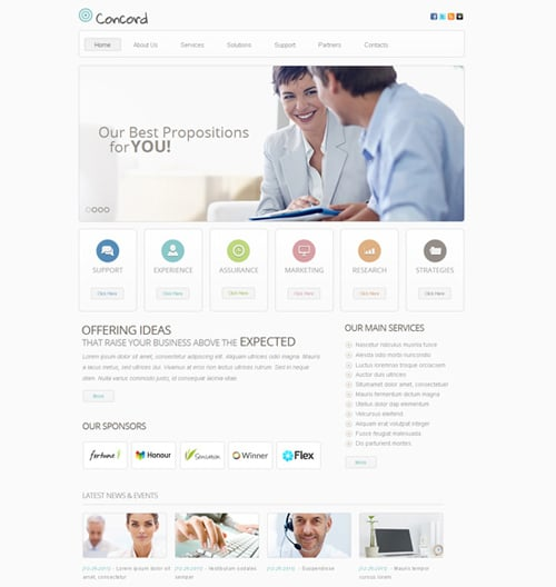 How to Create Website with Business HTML Template