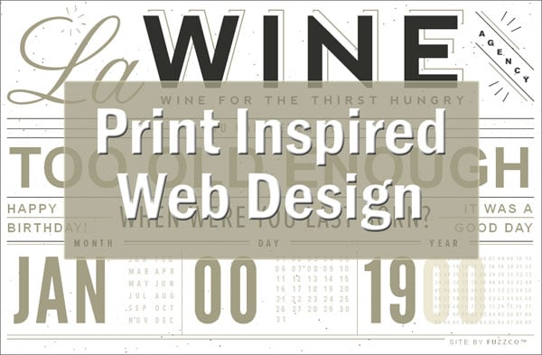 Print Inspired Web Design