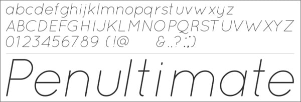 30 Free Thin and Light Fonts for Flat Web Designs