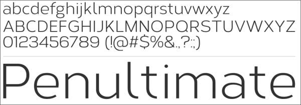 30 Free Light Fonts for Flat Web Designs
