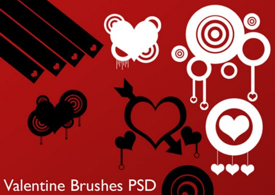 Valentine's Day Photoshop Resources: Free Brushes