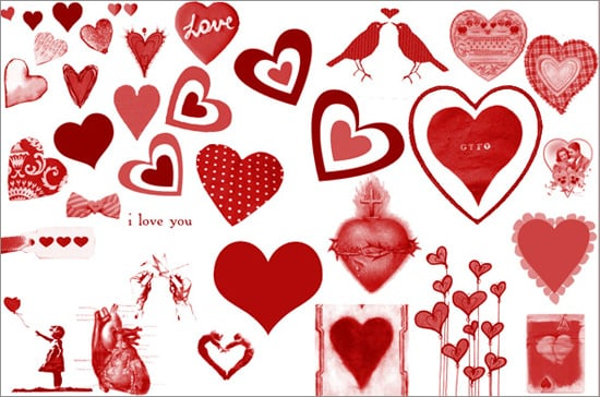 Valentine's Day Photoshop Brushes