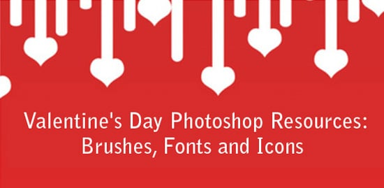 Web Design Photoshop Resources for Valentine's Day
