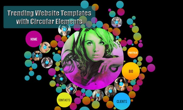 Trending Website Templates with Circular Elements