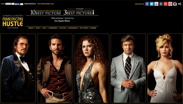 American Hustle Movie Website