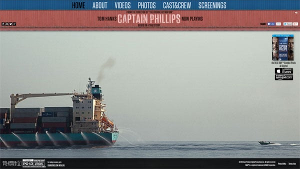 Movie Websites: Captain Phillips