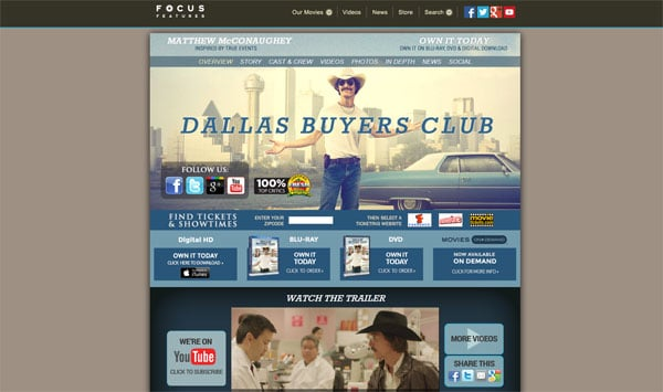 Dallas Buyers Club Movie Website