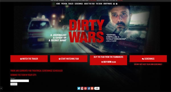 Movie Websites: Dirty Wars