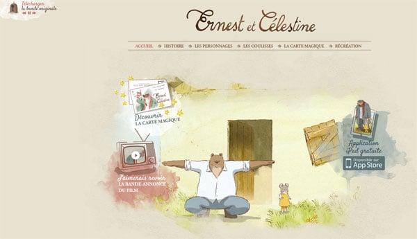 Animated Movie Websites: Ernest &Celestine