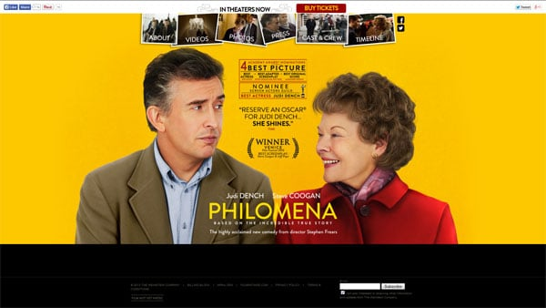 Movie Websites: Philomena