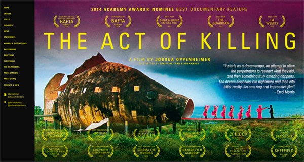 Documentary Movie Websites: The Act of Killing