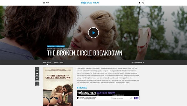 The Broken Circle Breakdown US Website